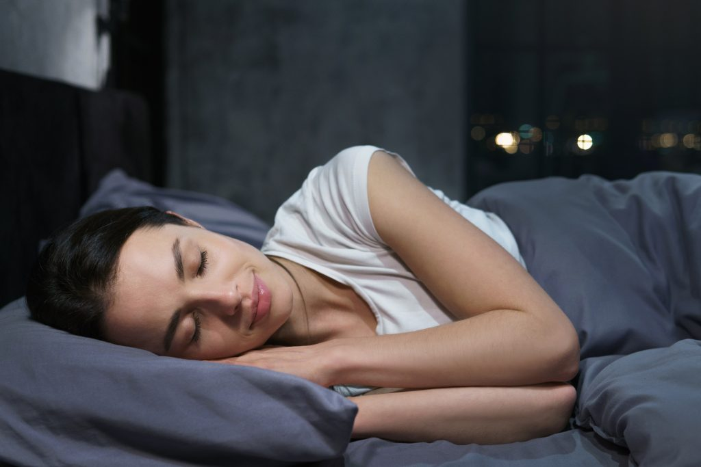 a woman sleeping soundly